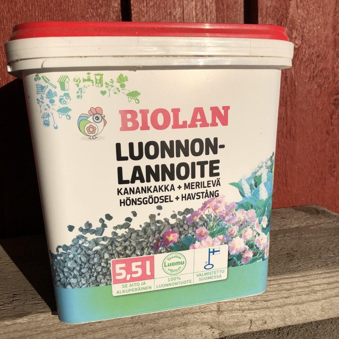Biolan luonnonlannoite 5,5L, 9,90€ (Large)