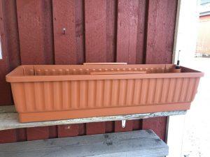 Terracotta, parvekelaatikko, ilman kiinnityskoukkuja
